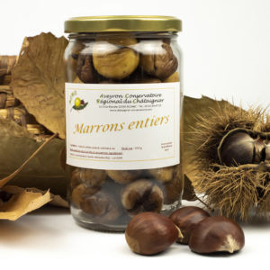 Marrons entiers au naturel (Pot 430 g)